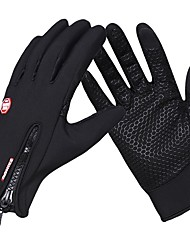 cheap -Winter Winter Gloves Bike Gloves / Cycling Gloves Mountain Bike MTB Thermal / Warm Touch Screen Windproof Breathable Full Finger Gloves Touch Screen Gloves Sports Gloves Fleece Silicone Gel Black