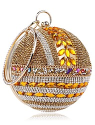 cheap -Women's Crystals Polyester / Alloy Evening Bag Gold / Silver / Blue / Fall & Winter