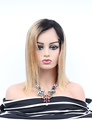 cheap -Remy Human Hair Lace Front Wig Asymmetrical Wendy style Brazilian Hair Straight Wig 130% 150% Density with Baby Hair Women Easy dressing Sexy Lady Natural Women's 8-14 Human Hair Lace Wig PERFE