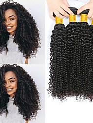 Недорогие -4 Связки Малазийские волосы Кудрявый Натуральные волосы 200 g Человека ткет Волосы Пучок волос One Pack Solution 8-28 дюймовый Естественный цвет Ткет человеческих волос Лучшее качество 100 / 8A