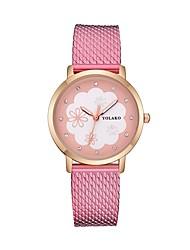 cheap -Women's Wrist Watch Quartz Black / White / Red Casual Watch Analog Ladies Flower Fashion - Red Pink Light Blue