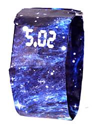 Недорогие -Муж. Жен. Спортивные часы электронные часы Цифровой Черный / Белый / Синий 100 m Защита от влаги Секундомер Творчество Цифровой Цветной минималист - Камуфляж Зеленый Камуфляж Браун Белый / Красный