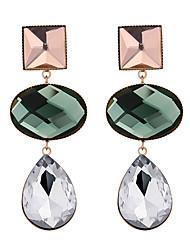 cheap -Women's Drop Earrings Stylish Drop Ladies Geometric Vintage European Earrings Jewelry Green / Blue / Light Green For Party 1 Pair