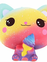 cheap -Squishy Squishies Squishy Toy Squeeze Toy / Sensory Toy Jumbo Squishies Cat Ice Cream Cute Stress and Anxiety Relief Slow Rising PORON For Kid's Adults' Boys' Girls' Gift Party Favor 1 pcs