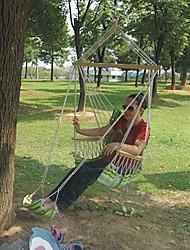Недорогие -Гамак Стул На открытом воздухе Компактность Легкость Дышащий холст для 1 человек Походы Путешествия Для школы Зеленый