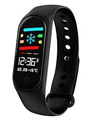abordables -m3s smart support bluetooth fitness tracker support notifier / moniteur de fréquence cardiaque sport smartwatch étanche compatible avec téléphones iphone / samsung / android