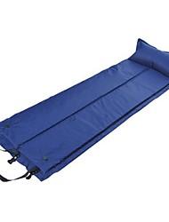 Недорогие -Jungle King Самонадувающийся спальный коврик На открытом воздухе Компактность Влагонепроницаемый Складной ПВХ 183*58*3 cm Походы Зеленый Синий / Сделай это двойным