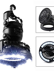 cheap -Lanterns & Tent Lights Waterproof 18 lm LED LED 18 Emitters Manual Mode Waterproof Portable Fan Night Vision 2 in 1 Camping / Hiking / Caving Hunting Cold White Light Source Color Black