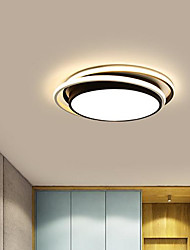 cheap -1-Light 38 cm Tri-color Flush Mount Lights Metal Circle Painted Finishes Contemporary / LED 110-120V / 220-240V