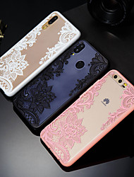 cheap -Case For Huawei Huawei P20 / Huawei P20 Pro / Huawei P20 lite Pattern Back Cover Lace Printing Hard PC / P10 Plus / P10 Lite / P10