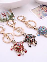 cheap -Keychain Turtle Diamond / Rhinestone Decorated Case Fashion Imitation Diamond Ring Jewelry Black / Red / Blue For Gift Daily