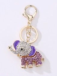 cheap -Keychain Elephant Cartoon Colorful Ring Jewelry Red / Blue / Pink For Daily Going out