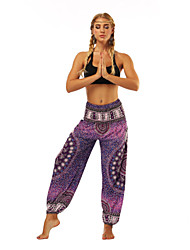 cheap -Women's Dancer Yoga Meditation Masquerade Boho Exotic Dancewear Polyster Purple Pants