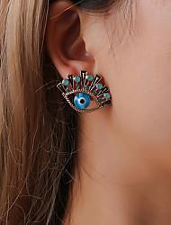 cheap -Women's Crystal Cubic Zirconia Stud Earrings Retro Eyes Creative Ladies Bohemian Aristocrat Lolita Casual / Sporty Ethnic Imitation Diamond Earrings Jewelry Blue For Party / Evening Masquerade Street