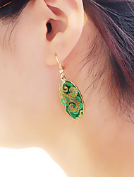 cheap -Women's Tourmaline Drop Earrings Stylish Lucky Ladies Asian Basic Fashion Earrings Jewelry Green / Blue / Pink For Daily Date 1 Pair