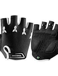 cheap -ROCKBROS Bike Gloves / Cycling Gloves Mountain Bike Gloves Mountain Bike MTB Breathable Anti-Slip Sweat-wicking Protective Fingerless Gloves Half Finger Sports Gloves Mesh Black / White for Kid's