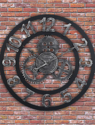 "cheap -Wall Clock,Modern Contemporary Traditional Wooden Round Indoor / Outdoor Indoor Outdoor 24"" x 24"" (60cm x 60cm) 32"" x 32"" (80 x 80cm) 28"" x 28"" (70 cm x 70 cm)"