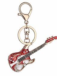 cheap -Keychain Guitar Diamond / Rhinestone Decorated Case Fashion Opal Imitation Diamond Ring Jewelry Red For Gift Date