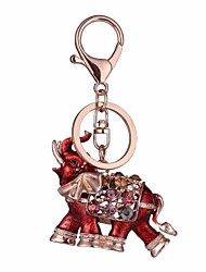 cheap -Keychain Elephant Diamond / Rhinestone Decorated Case Fashion Imitation Diamond Ring Jewelry Red / Blue For Gift Daily