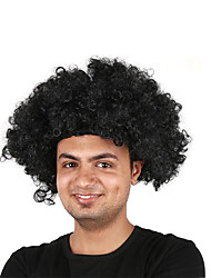 Недорогие -Парики из искусственных волос Маскарадные парики Кудрявый Стрижка боб Парик Короткие Светло-золотой Чистый синий Розовый Синий Зеленый Искусственные волосы 14 дюймовый Муж.