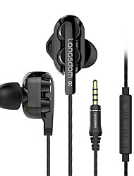 cheap -Langsdom C4D Wired In-ear Earphone Cable Stereo with Microphone with Volume Control Comfy Mobile Phone