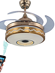 cheap -1-Light Ecolight™ 107 cm Adjustable / WIFI Control / Bluetooth Control Ceiling Fan Metal Novelty Electroplated Contemporary / LED 110-120V / 220-240V / SAA / FCC
