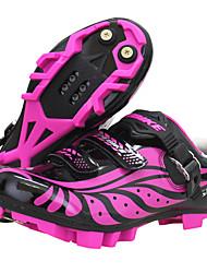 Недорогие -SIDEBIKE Обувь для горного велосипеда Углеволокно Дышащий Противозаносный Велоспорт Фиолетовый Жен. Обувь для велоспорта / Дышащая сетка