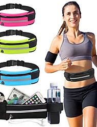cheap -5 L Running Belt Hiking Waist Bag Multifunctional Portable Lightweight Rain Waterproof Outdoor Camping / Hiking Fishing Climbing NEOPRENE Black Green Sky Blue / Marathon
