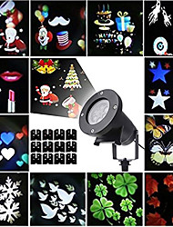 cheap -12pcs Lawn Lights Garden Light Outdoor Lighting Waterproof / Creative / Projector Light Halloween Christmas Multi Color 100-240 V 12 LED Beads