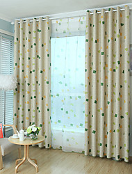 cheap -Two Panel Children's Room Cute Cartoon Style Geometric Figure Printing Blackout Curtains