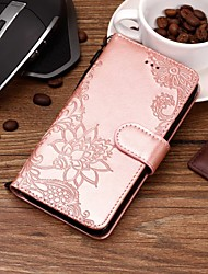 cheap -Case For Motorola Moto X4 / MOTO G6 / Moto G6 Play Wallet / Card Holder / with Stand Full Body Cases Flower Hard PU Leather