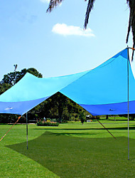cheap -BSwolf 5 person Camping Shelter Outdoor Windproof Rain Waterproof Breathability Single Layered Poled Camping Tent 2000-3000 mm for Fishing Beach Camping / Hiking / Caving Oxford Cloth 420*350*250 cm