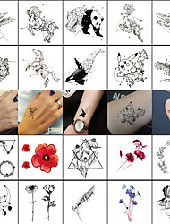 cheap -decal-style-temporary-tattoos-face-body-wrist-temporary-tattoos-40-pcs-totem-series-animal-series-smooth-sticker-safety-body-arts-masquerade-bachelor