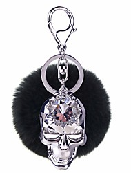 cheap -Keychain Skull Ball Diamond / Rhinestone Decorated Case Fashion Ring Jewelry Yellow / Red / Green For Daily Street