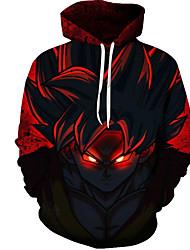 cheap -Men's Plus Size Hoodie 3D Round Neck Classic & Timeless Long Sleeve Red M L XL XXL XXXL XXXXL XXXXXL XXXXXXL / Fall / Winter