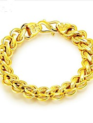 cheap -Men's Chain Bracelet Stylish Creative Fashion 18K Gold Plated Bracelet Jewelry Gold For Party Daily