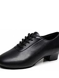 cheap -Boys' Dance Shoes Faux Leather Latin Shoes Heel Thick Heel Customizable Black / Performance / Practice