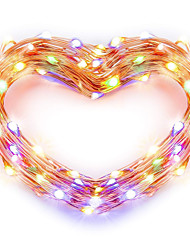 cheap -USB Copper Wire lights Fairy String 5M 16.5Ft 50leds with 7 different color RGB change automatically Waterproof Holiday Decorative Lamp String (Automatic change of color)