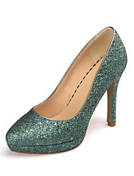 cheap -Women's Heels Glitter Crystal Sequined Jeweled Stiletto Heel PU Spring Green / Dark Blue / Silver / Daily / Pumps / EU40