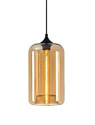 cheap -1-Light 18 cm Pendant Light Glass Glass Circle / Globe / Linear Globe / Modern 110-120V / 220-240V