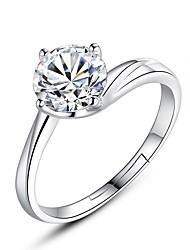cheap -Women's Band Ring 1pc Silver Imitation Diamond Alloy Ladies Romantic Sweet Evening Party Festival Jewelry Classic Stylish