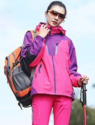 cheap -Women's Hiking 3-in-1 Jackets Winter Outdoor Thermal / Warm Windproof Rain Waterproof Anatomic Design 3-in-1 Jacket Winter Jacket Fleece Full Length Hidden Zipper Climbing Hunting and Fishing Camping