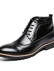 Недорогие -Муж. Официальная обувь Искусственная кожа Осень Ботинки Ботинки Черный / Коричневый / Свадьба / Для вечеринки / ужина / Для вечеринки / ужина