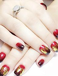 cheap -12pcs mixed color foil nail art decoration golden silver colorful foil
