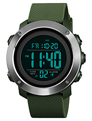 cheap -SKMEI Men's Sport Watch Military Watch Digital Watch Digital Casual Water Resistant / Waterproof Quilted PU Leather Black / Green Digital - Black Green One Year Battery Life / Stainless Steel / Alarm