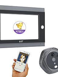 Недорогие -mountainone 720p wifi беспроводной цифровой глазок дверной просмотрщик 7inch передняя видео дверь глазок камера wifi дверной звонок с домофоном или сфотографировать или взять видео