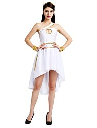 cheap -Egyptian Costume Adults Women's Halloween Costume For Polyster Solid Colored Halloween Halloween Carnival Masquerade Dress Belt Headwear