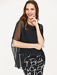 cheap -Women's Going out Blouse - Floral Black