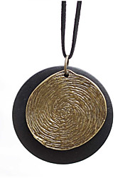 cheap -Women's Pendant Necklace Long Necklace Vintage Style Stylish faceter Creative Stylish Unique Design Vintage Hammered Cord Stone Alloy Black 80 cm Necklace Jewelry 1pc For Daily Work