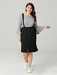 cheap -Women's Going out Slim Sheath Dress Black XXL XXXL XXXXL